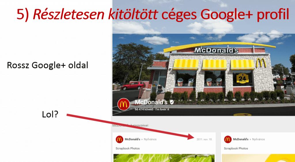 McDonalds Google+